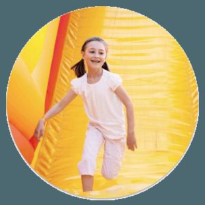 Kid sliding circle