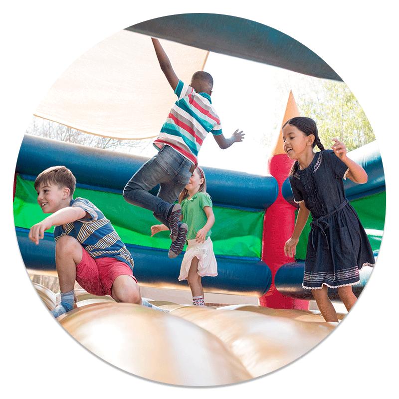 Kids bouncing circle
