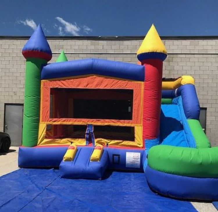 Rainbow Bounce & Slide - Offered for Home Events Only