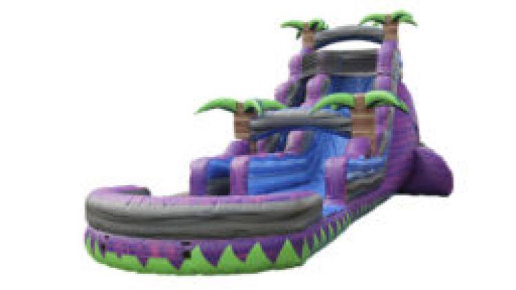 22' Purple Crush Water Slide: with 50' Hose